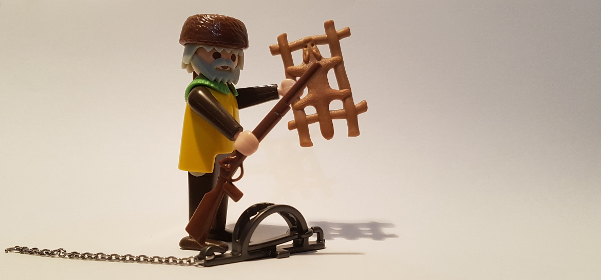 Playmobil Trapper mit Falle
