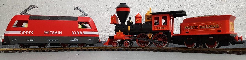 Steaming Mary in Vergleich zu Güterzug Lok aus 4010 Eisenbahn RC E-Lok