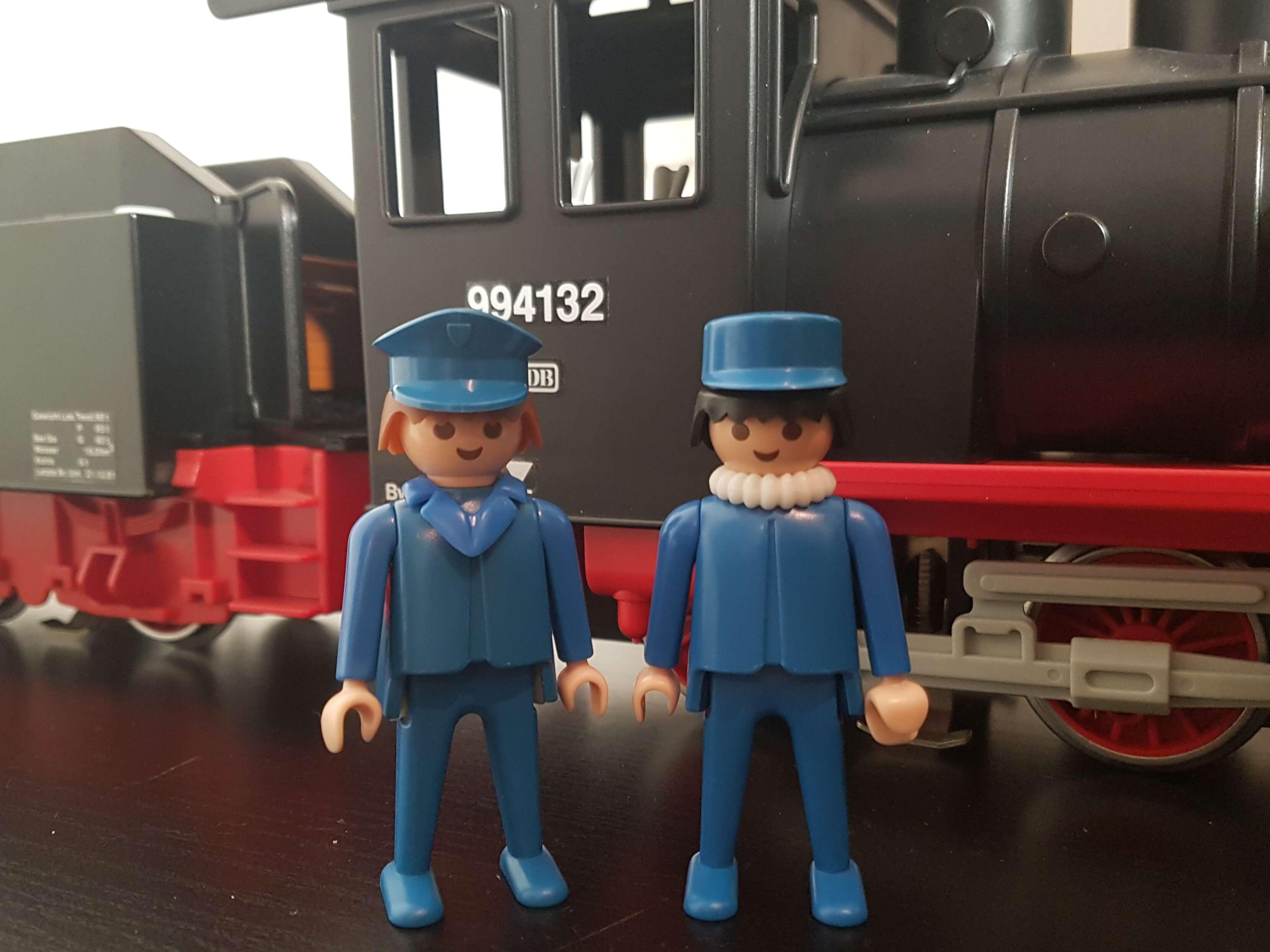 Lokführer und Heizer der Playmobil Schlepptenderlok 4052