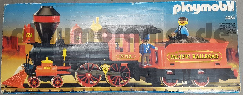 Originalverpackung der Playmobil Westernlok 4054