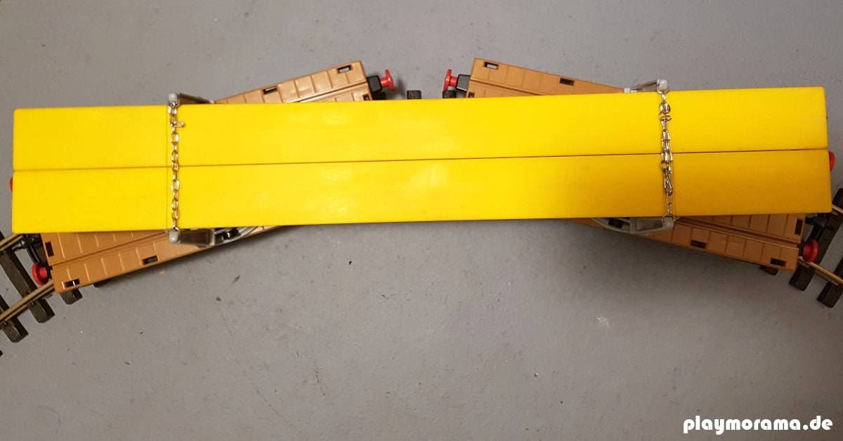 Drehschemelwagen mit Träger 4109 Draufsicht - flatlay
