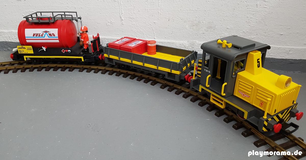 Neuauflage Güterzug-Set 4024-A des ersten Sets der Playmobil-Eisenbahn