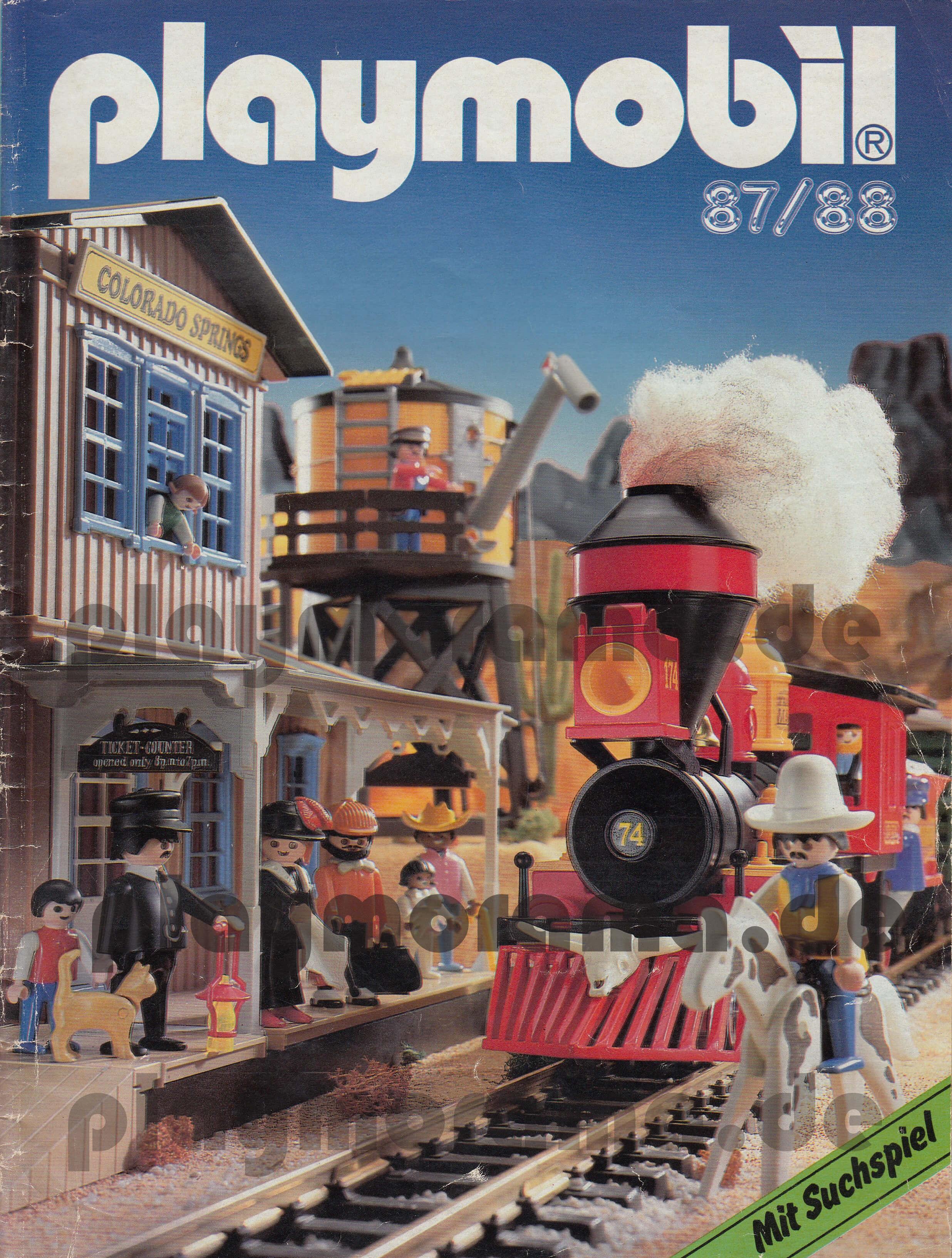 Playmobil Prospekt 87/88 zeigt die Artikel aus der Western-Welt