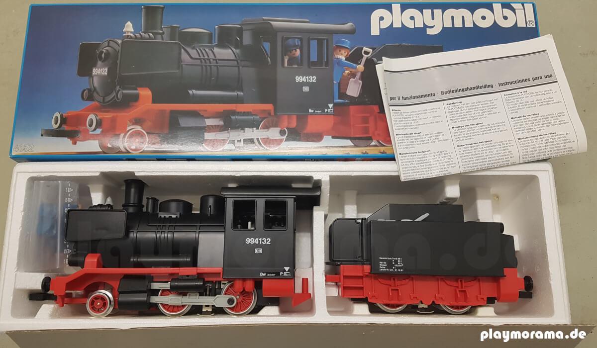 Sehr gut erhaltene Playmobil Schlepptenderlok 4052-A im Karton