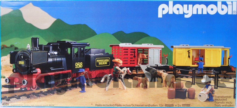 Playmobil Schlepptenderlok Frachtzug 4031