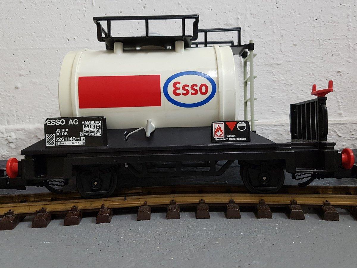 Playmobil Kesselwagen / Tankwaggon weiß von der Esso AG