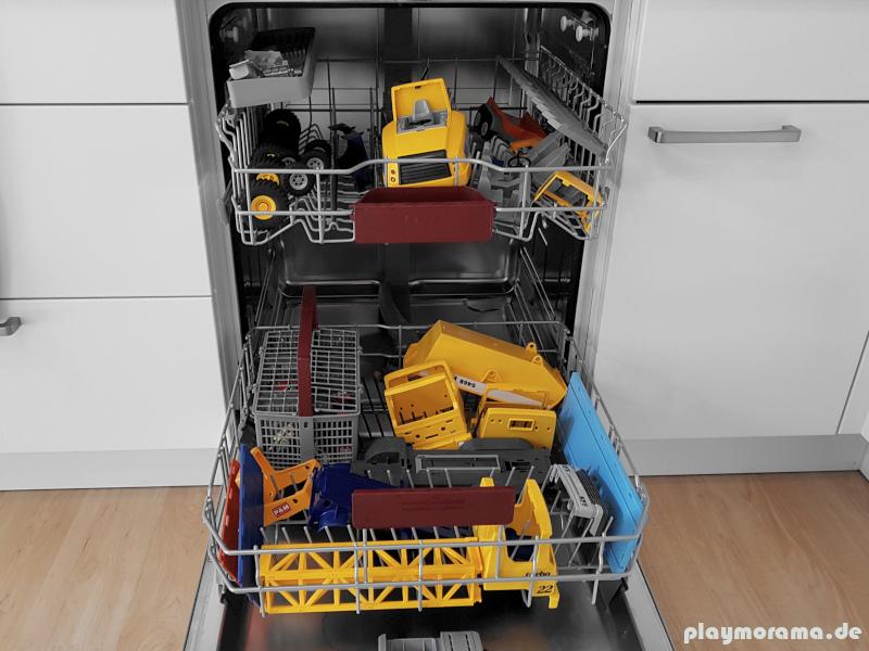 Playmobil ist bequem und einfach in der Spülmaschine zu reinigen
