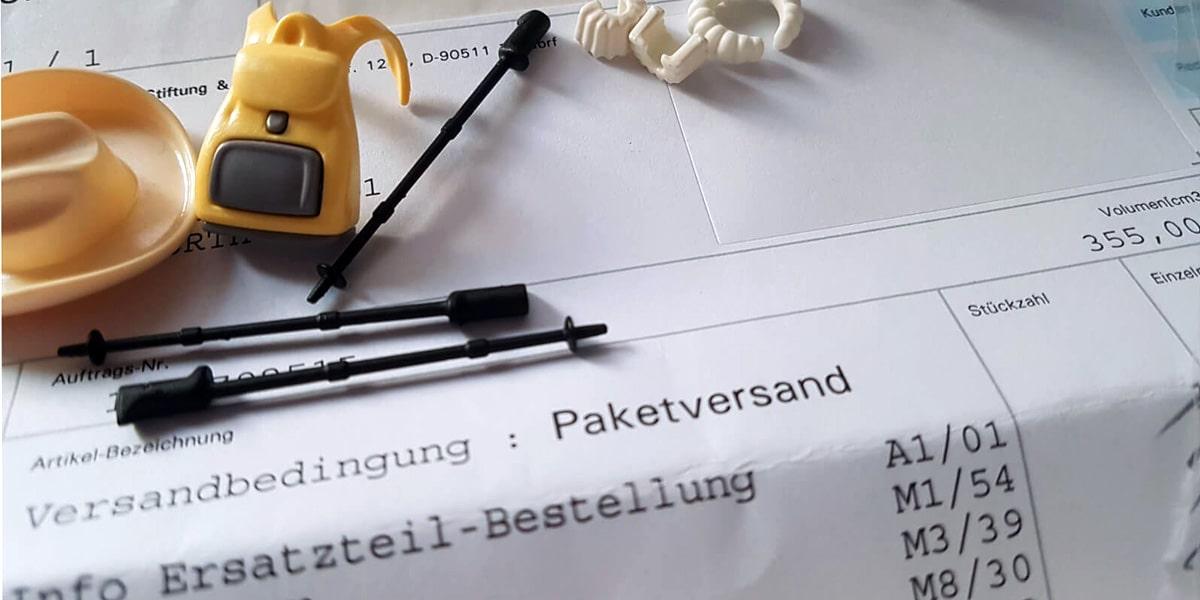 Playmobil Ersatzteil Bestellung über den Direktservice des Online-Shops