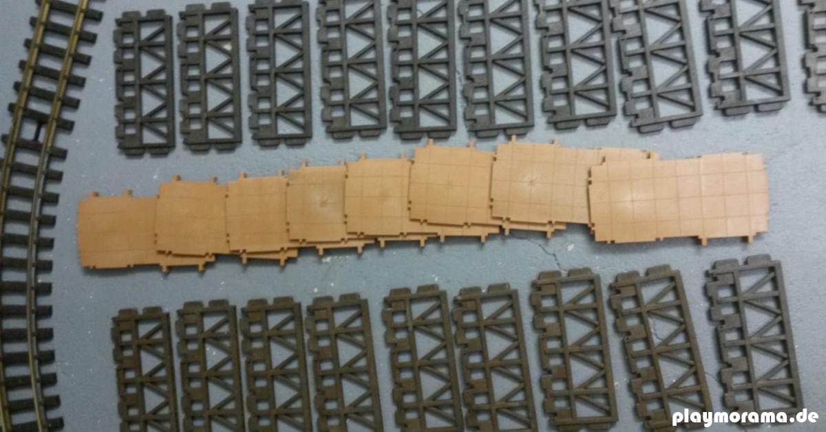Bauteile für das Grundgerüst meiner Güterabfertigung 4305