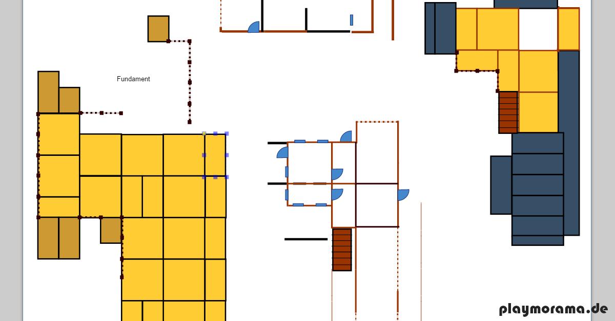 Ausschnitt eines am PC gezeichneten Grundrisses