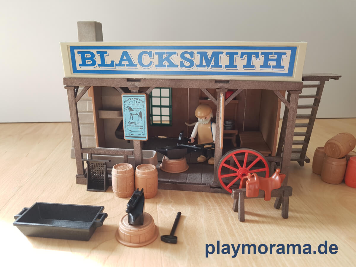 Playmobil Western Classic Gebäude Blacksmith 3430-A