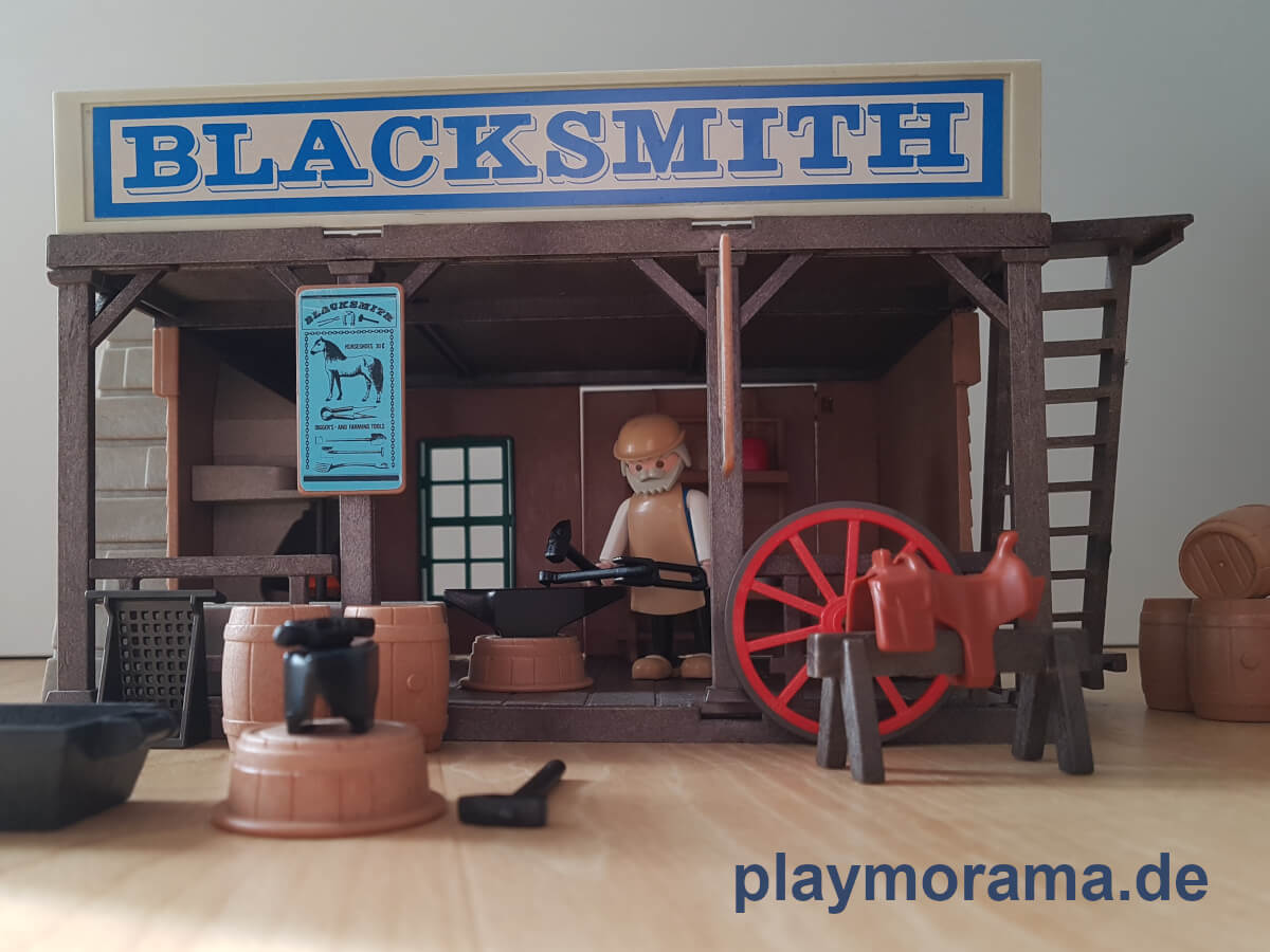 "Playmobil Schmiede ""Blacksmith 3430-A"" von 1977"