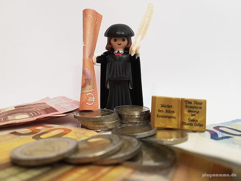 Die Playmobil-Sonderfigur Martin Luther war kurzzeitig die teuerste Figur und wurde über eine Million Mal verkauft