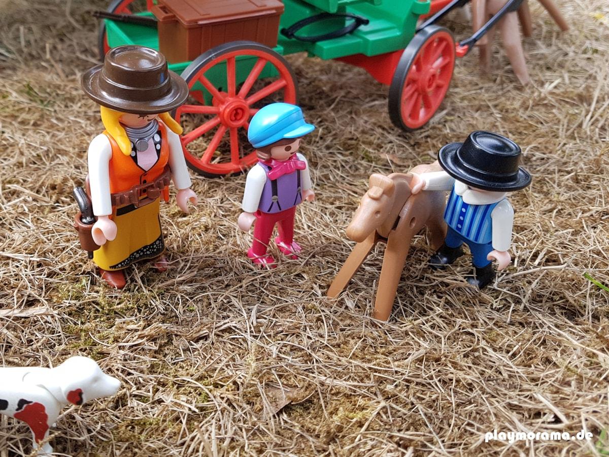 Western Buckboard Farmwagen von Playmobil mit Figuren