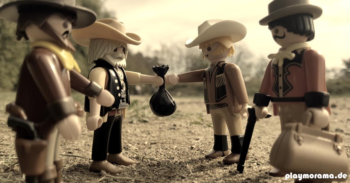 Die Cowboys verkaufen das Vieh an Viehhändler vor Ort.