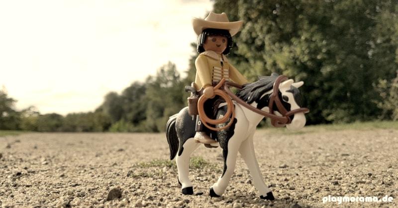 Donoma reitet sicher und beherrscht Umgang mit dem Lasso