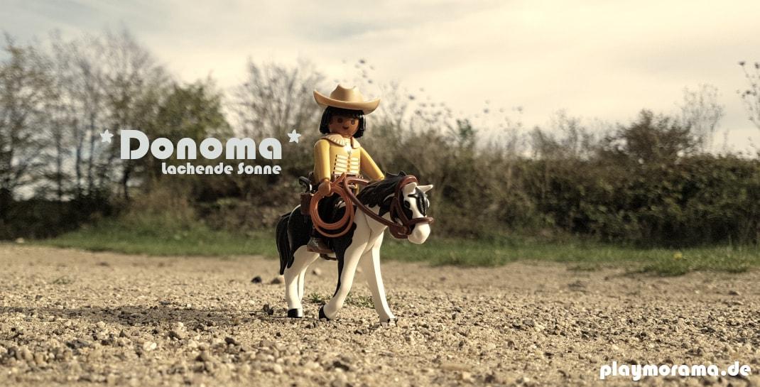 "Custom Playmobil Indianer mit dem Namen Donoma ""lachende Sonne""."