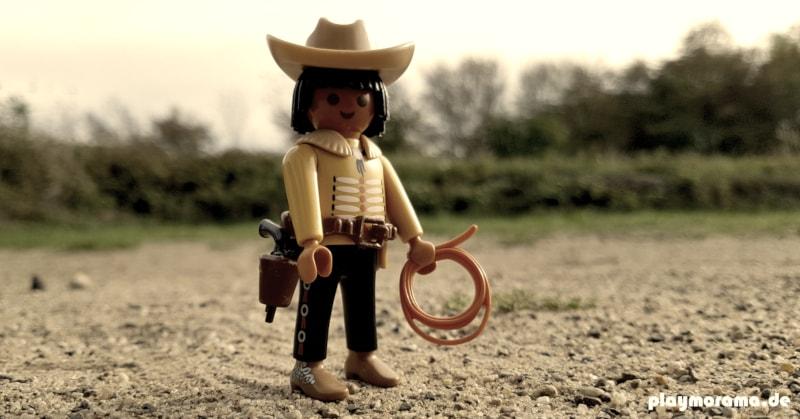 Custom Playmobil Figur - Cowboy mit Lasso.