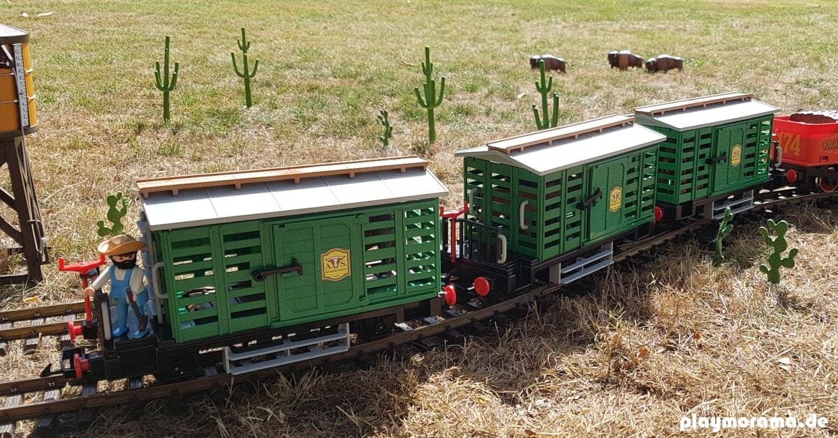 Die Western-Eisenbahn ersetzt nach und nach die Arbeit der Cowboys
