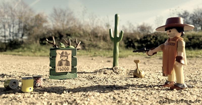 Dieser Western Revolverheld schießt zielsicher