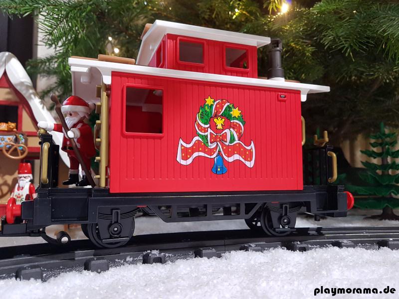 Begleitwagen Playmobil Weihnachtszug 4035 mit weißem Dach