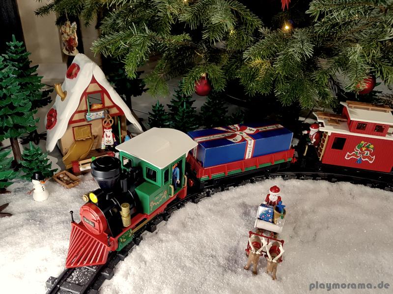 Playmobil Weihnachtsbaum.Festlicher Playmobil Weihnachtszug 4035 Playmorama De