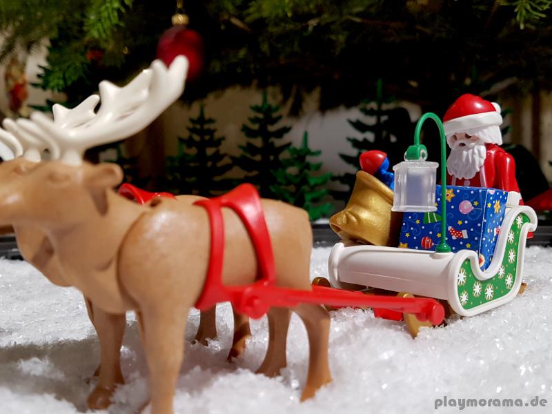 Jedes Jahr hat der Playmobil Weihnachtsmann eine lange Reise vor sich, um alle Kinder auf der ganzen Welt zu beschenken.