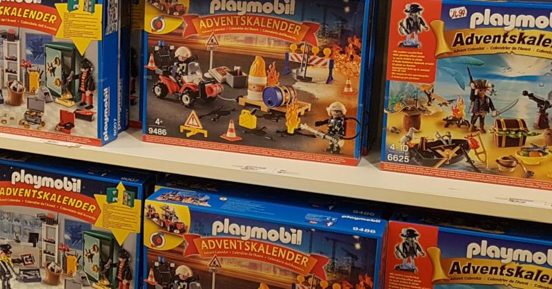 Verschiedene Playmobil Adventskalender im Einzelhandel