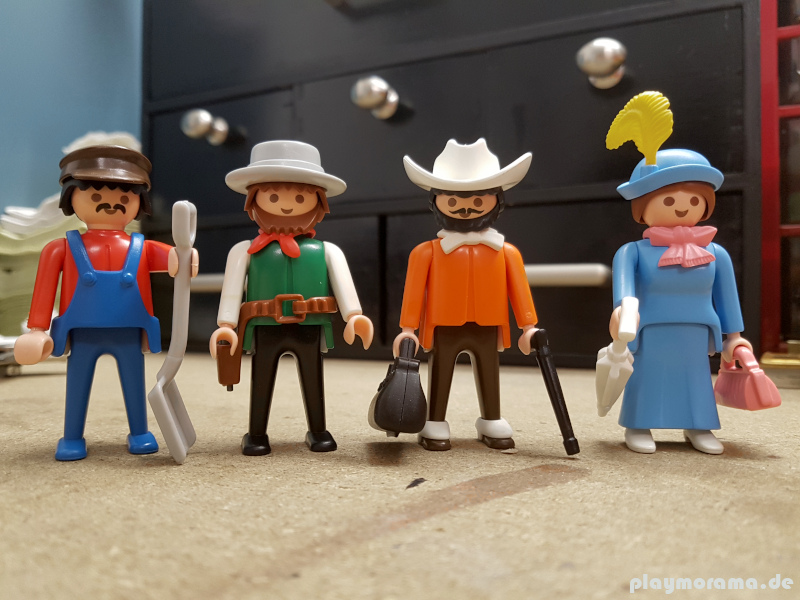 Figuren aus dem Set Western Personen-Zug 3958