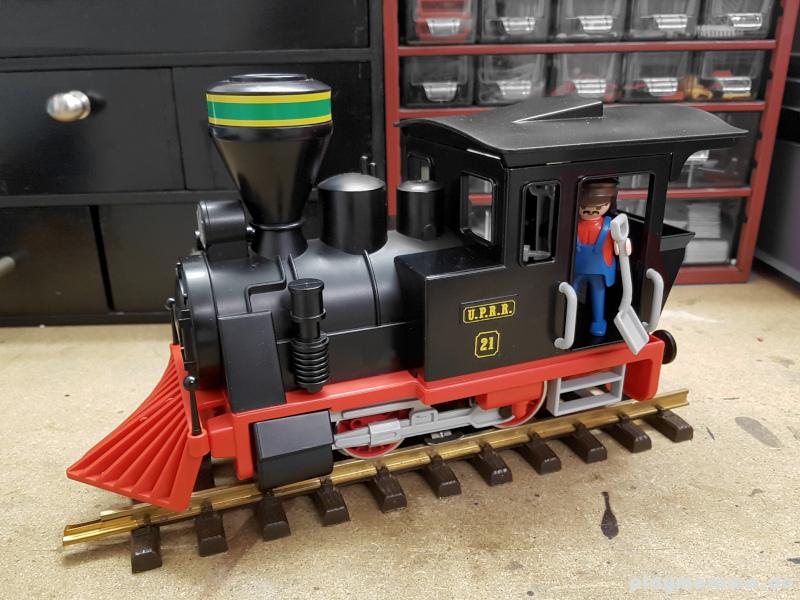 Lokomotive aus dem Set Playmobil Westernzug 3958