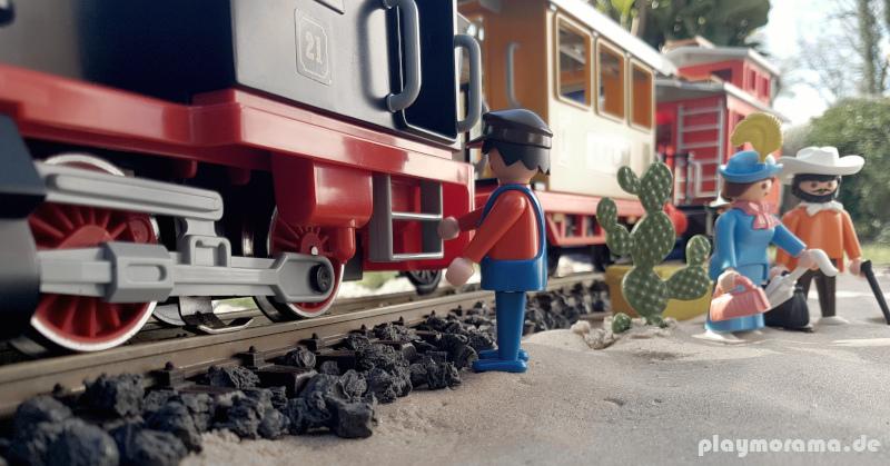 Kleiner Western-Zug 3958 diorama draußen