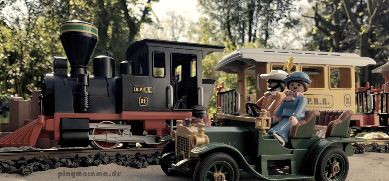 Playmobil Western PErsonenzug 3958 mit Oldtimer