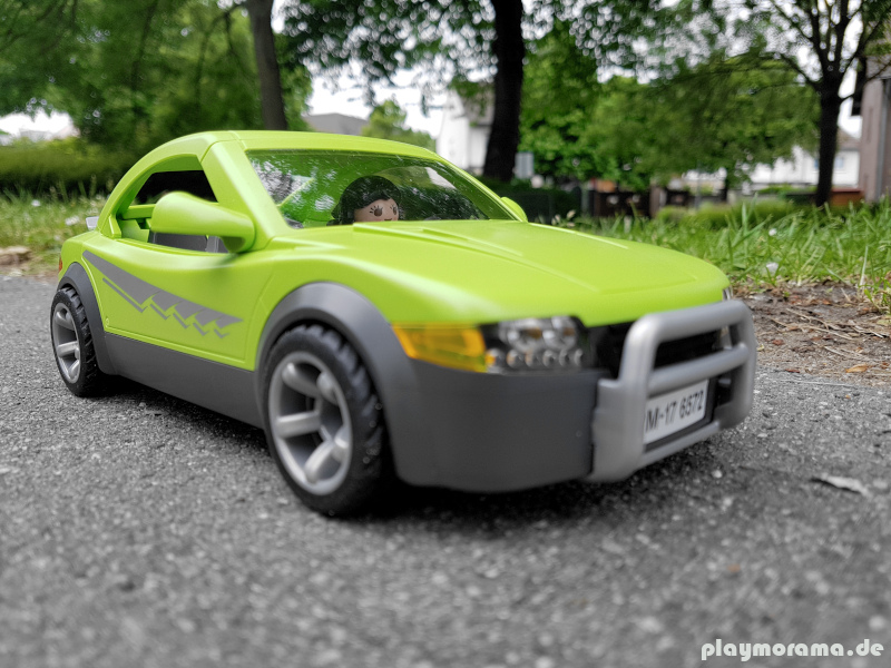 grüner Playmobil Sportwagen