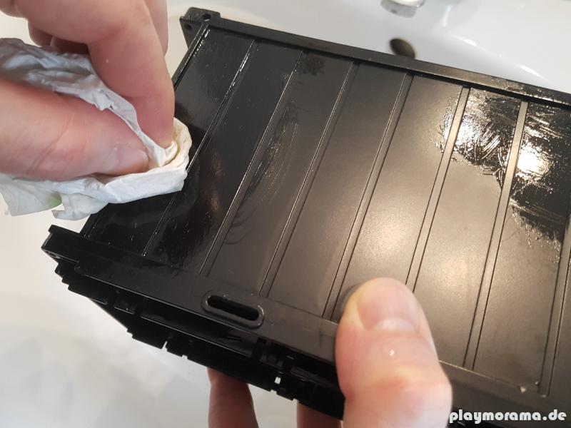 Playmobil Aufkleber & Kleberrückstände von Kunststoff entfernen mit einfachem Speiseöl