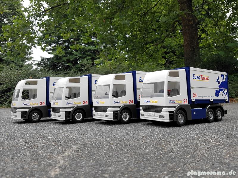 Neue Lastwagen für die Spedition EuroTrans | Umbauten Playmobil