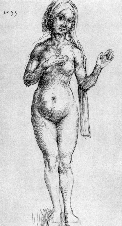 """Albrecht Dürer – Die Erfindung des Aktes mit dem Gemälde """"Badefrau"""""""