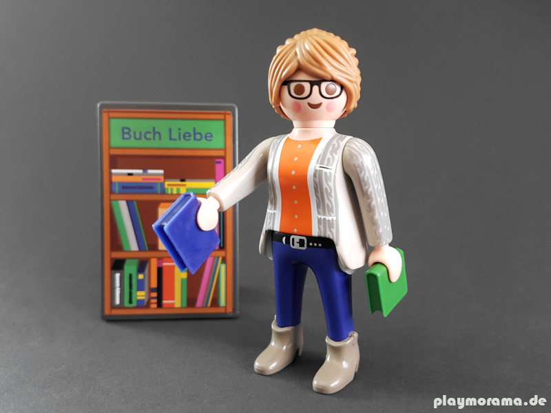 Playmobil Thalia Buchhändlerin zusammengebaut