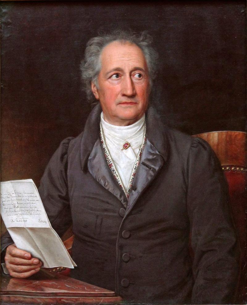 Johann Wolfgang von Goethe, Ölgemälde von Joseph Karl Stieler, 1828