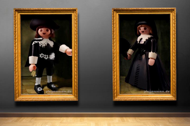 Playmobil Gemälde Marten Soolmans und Oopjen Coppit 9483