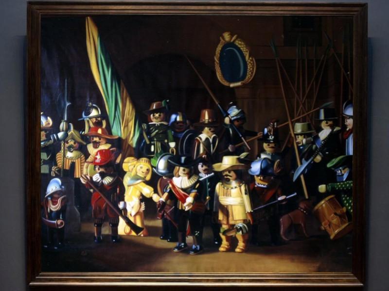 Die Interpretation der Nachtwache durch den französischen Künstlers Pierre-Adrien Sollier