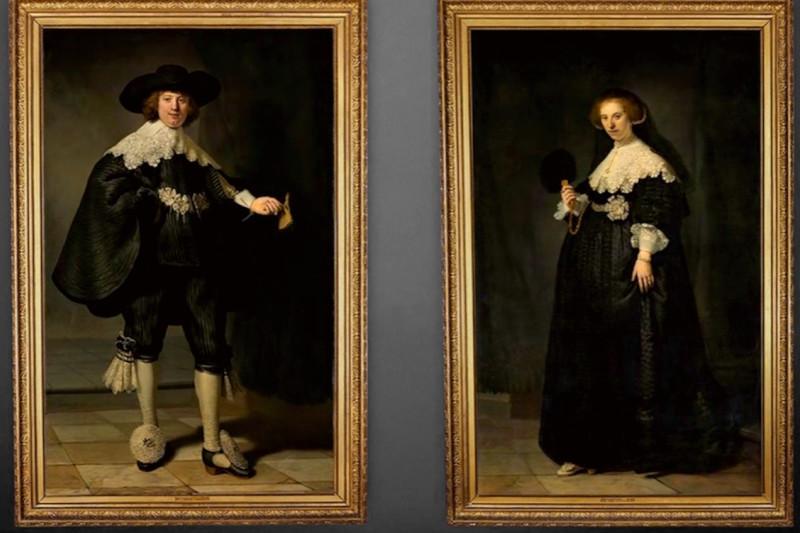 """Jeweils 80 Millionen wert: """"Porträt Marten Soolmans"""" and """"Porträt Oopjen Coppit"""" von Rembrandt"""