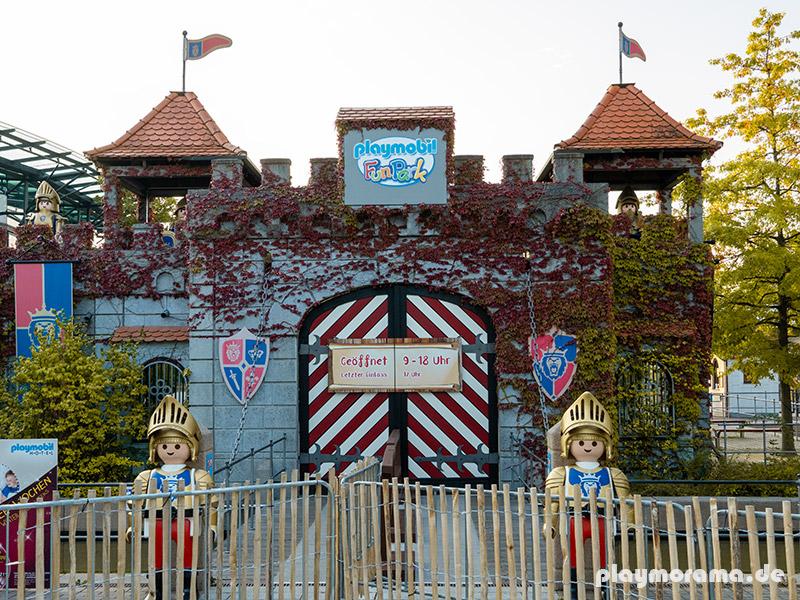 aktuelle Öffnungszeiten - Playmobil Funpark: geöffnet von 9 Uhr bis 18 Uhr